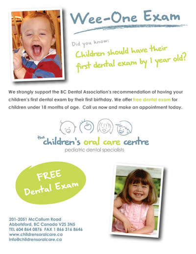 Free dental exam for your child